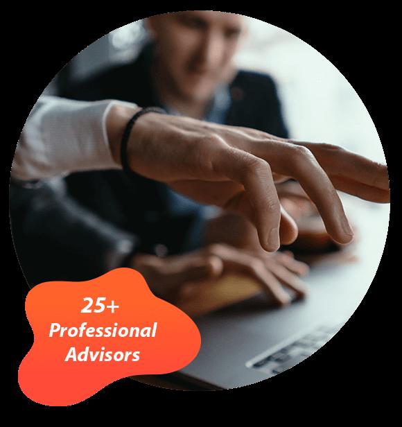 25+Professional Advisors